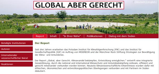 Website Global aber gerecht