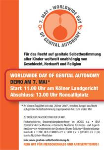Plakat: Worldwide Day of Genital Autonomy
